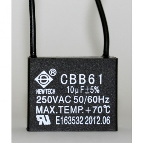 Ceiling Fan Capacitor Cbb61 10uf 2 Wire