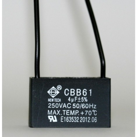CEILING FAN CAPACITOR CBB61 4uf 2 WIRE
